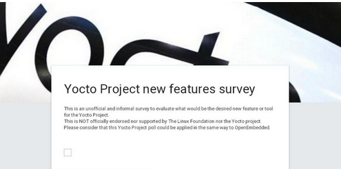 Yocto Project features survey