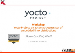 Yocto Workshop LinuxLab 2018